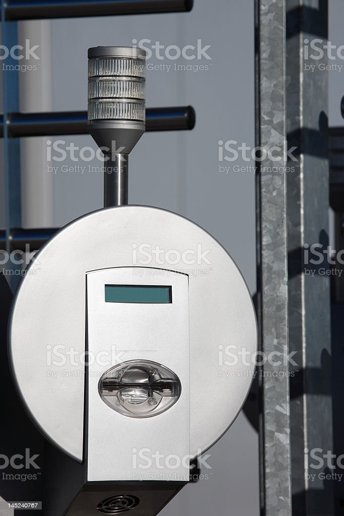 aluminum card reader security entrance in sunlight royalty-free stock photo