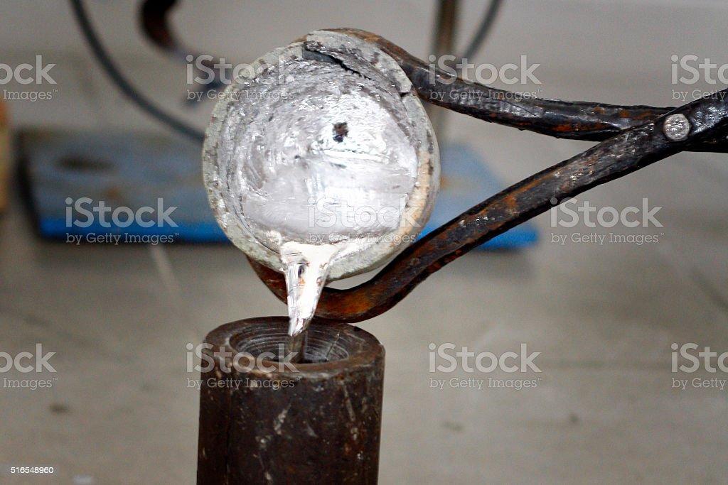aluminum  casting stock photo