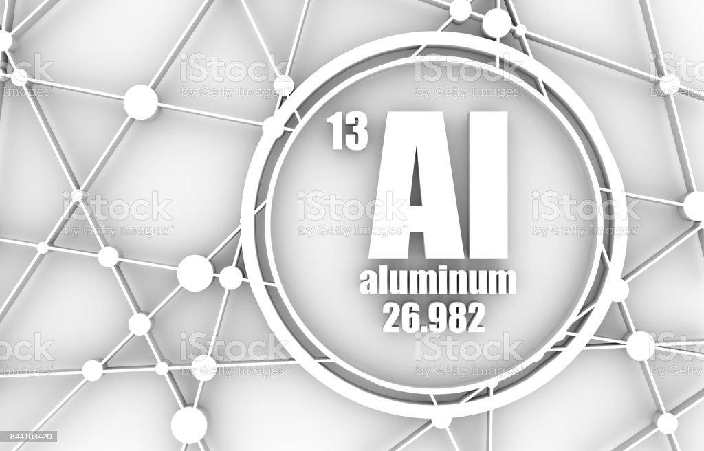 Aluminum chemical element. stock photo