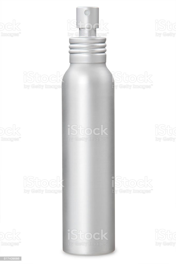 Aluminum container stock photo