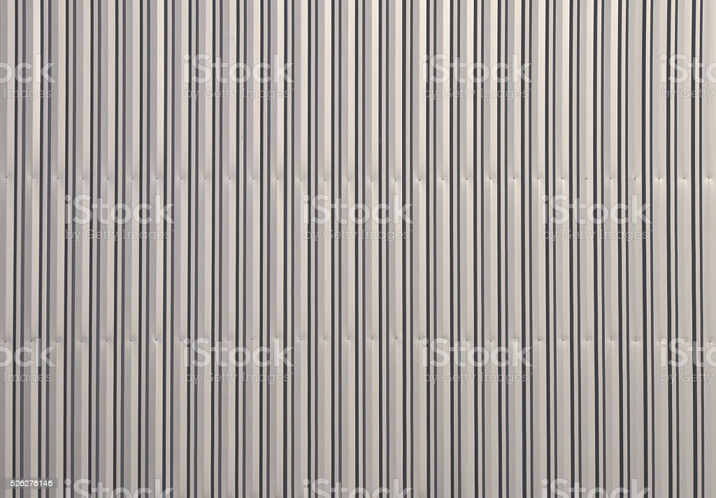 Aluminum corrugated metal wall royalty-free stock photo