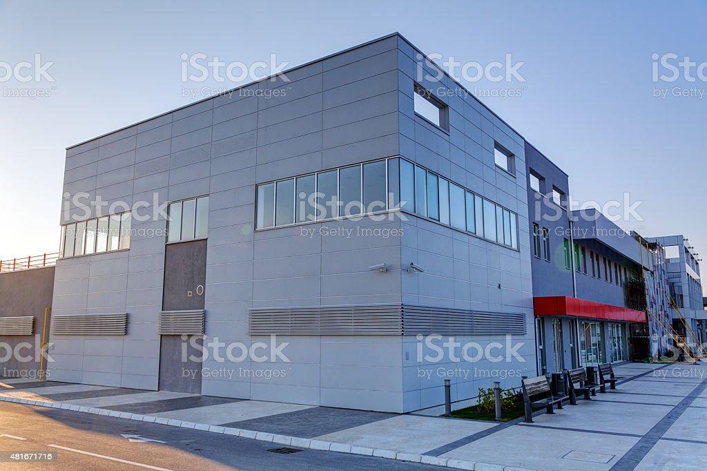 aluminum facade stock photo