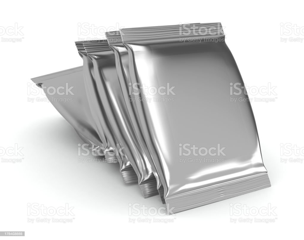 Aluminum Foil Bag Package royalty-free stock photo