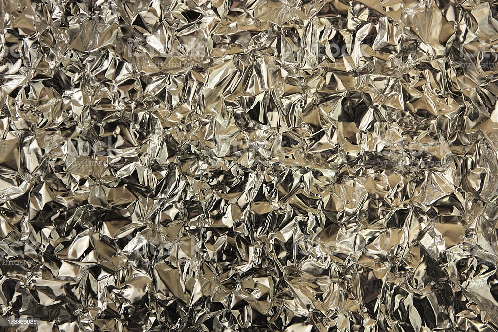 Aluminum Foil Metallic Pattern royalty-free stock photo