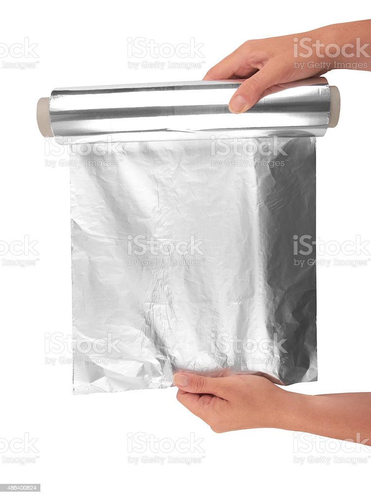 aluminum foil stock photo
