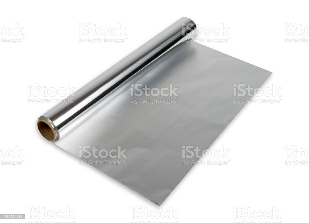 aluminum foil roll stock photo