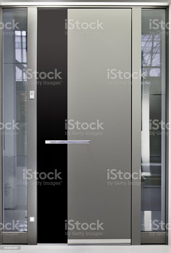 Aluminum Front Door stock photo