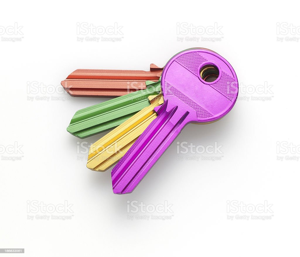 Aluminum keys stock photo