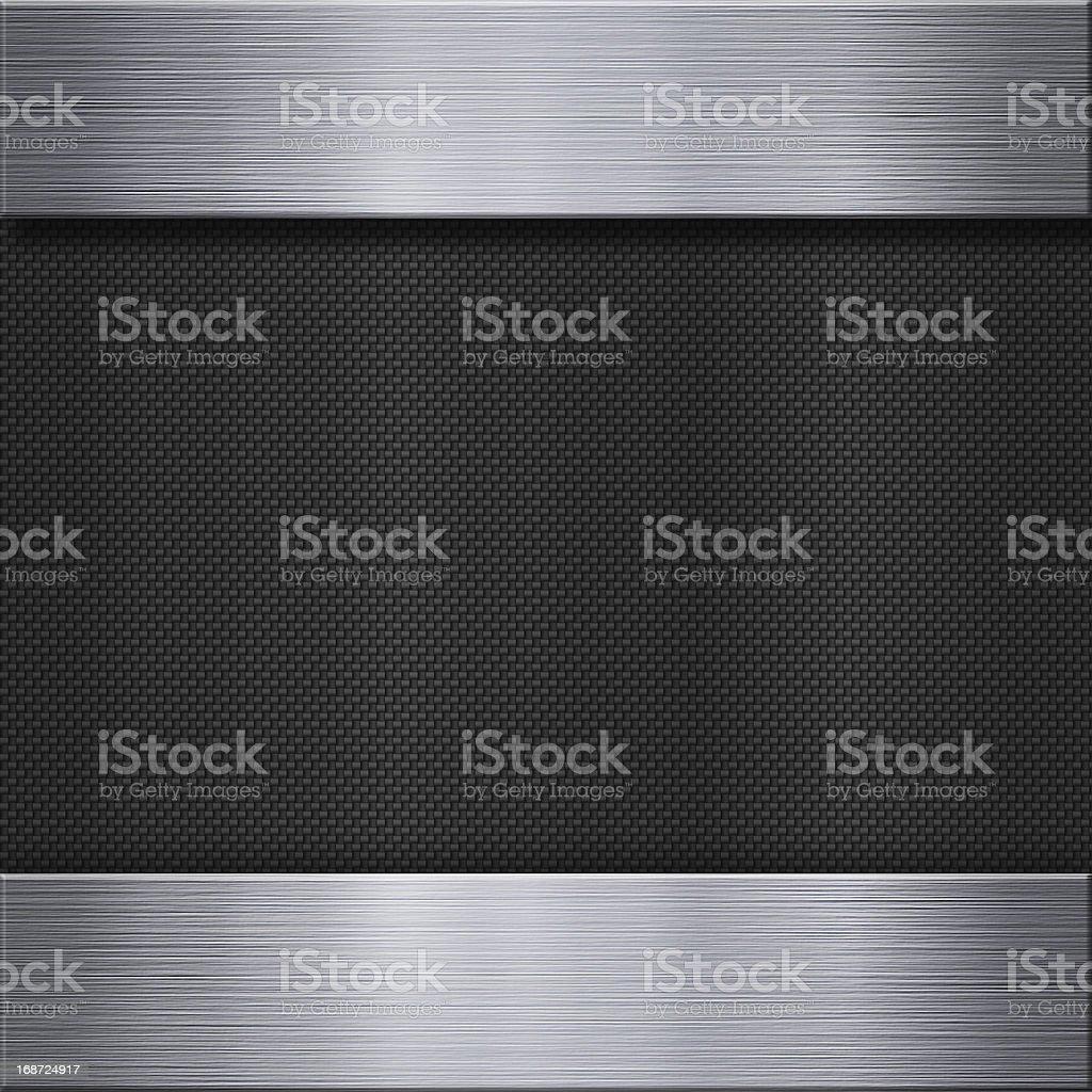 Aluminum metal plate and carbon fibre stock photo