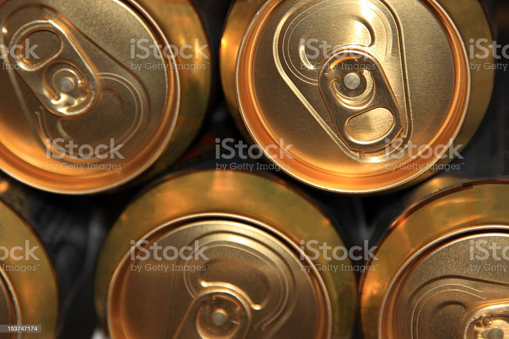 Aluminum pack of beer cans royalty-free stock photo