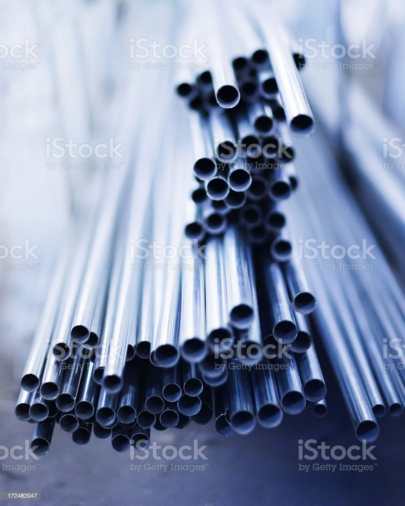 Aluminum Pipes royalty-free stock photo