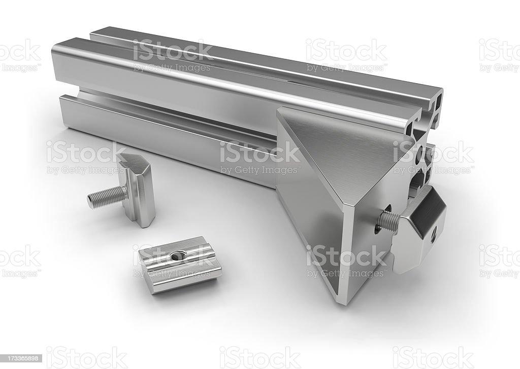 Aluminum profile accessories royalty-free stock photo
