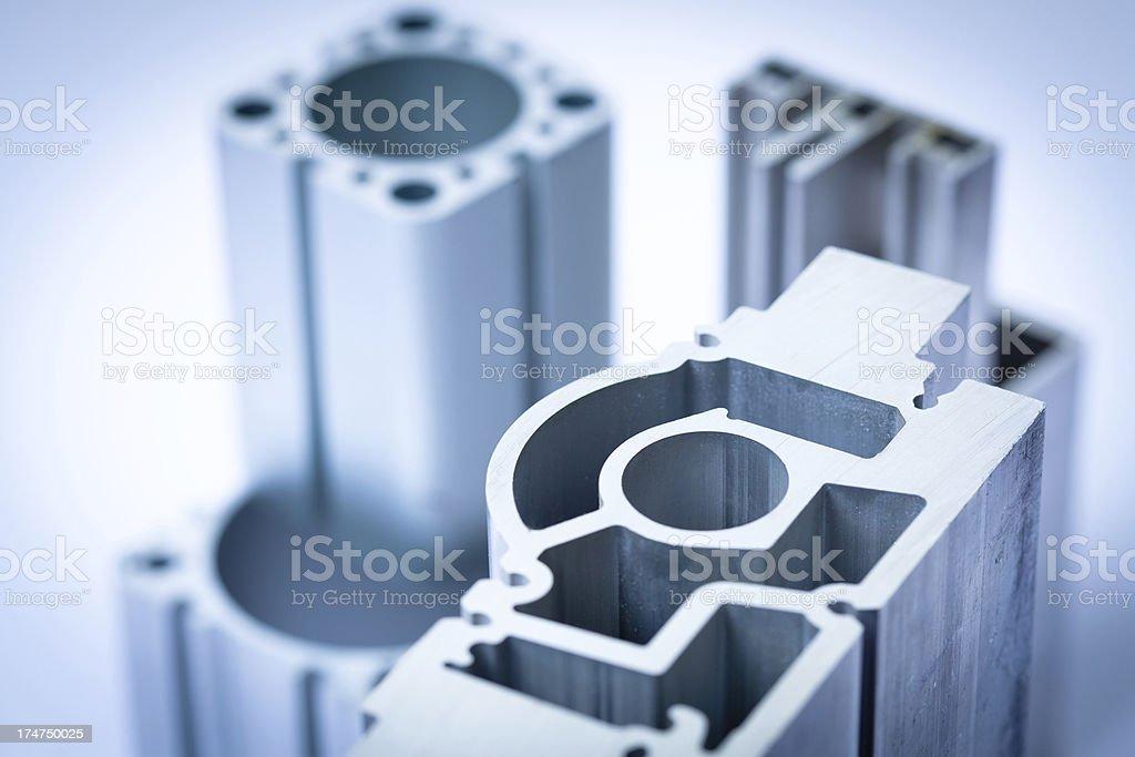 Aluminum profiles royalty-free stock photo