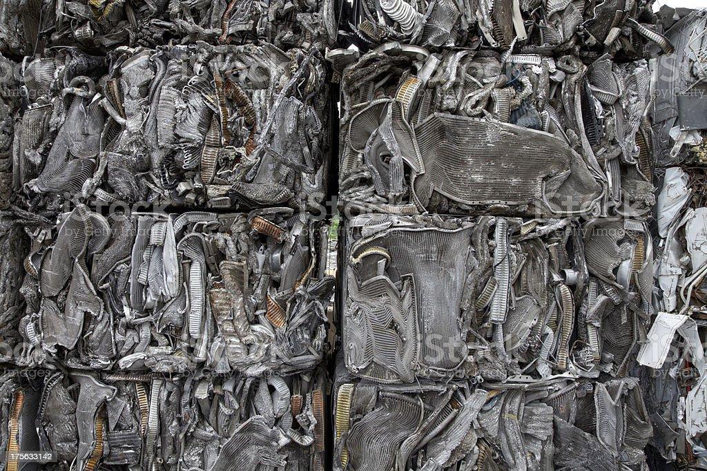 Aluminum recycling royalty-free stock photo