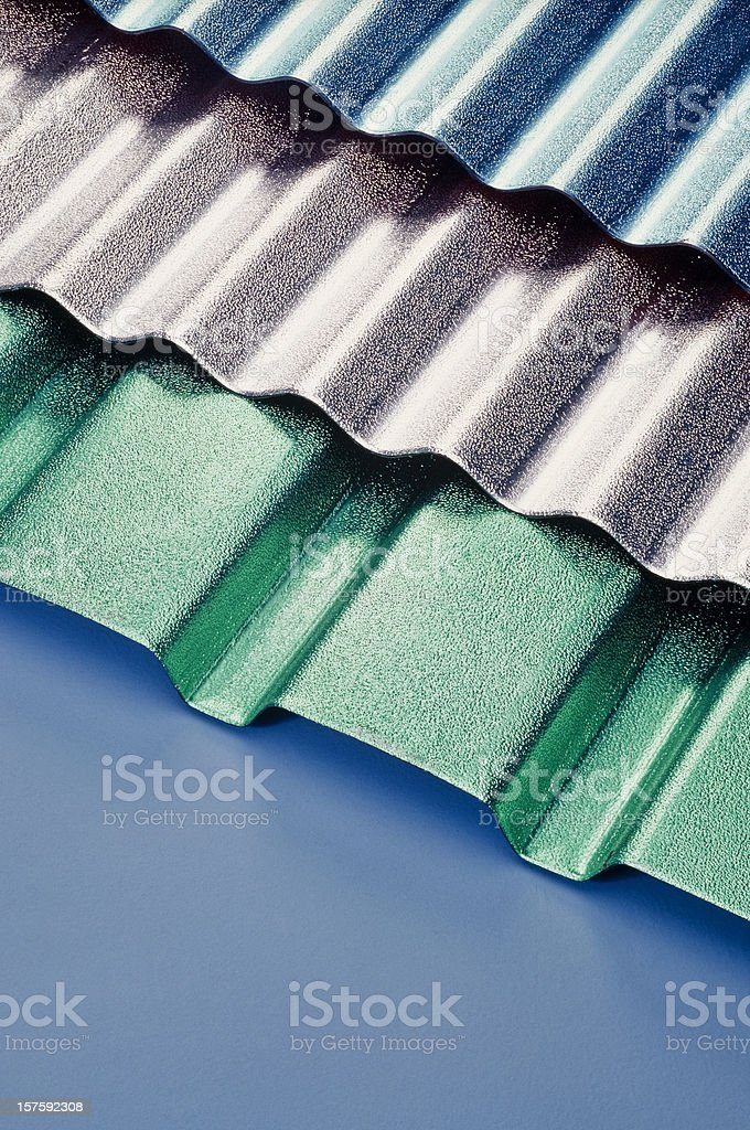 Aluminum Roof Tiles stock photo