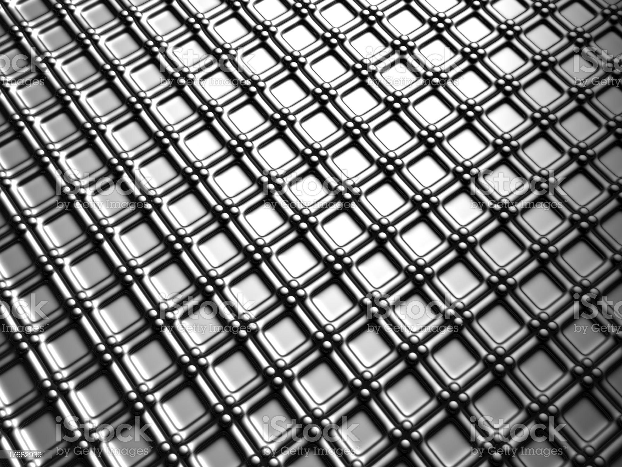 Aluminum silver square pattern background royalty-free stock photo