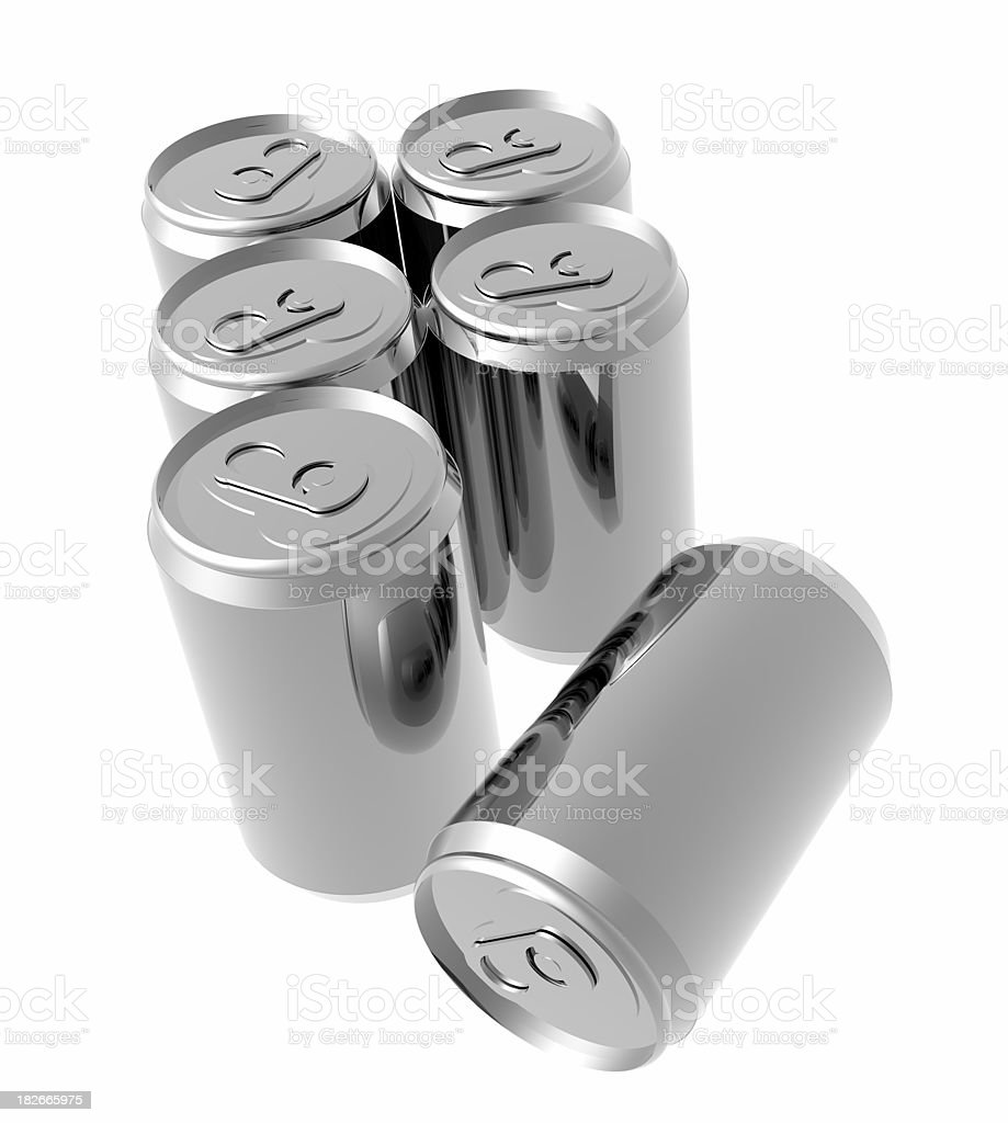 Aluminum six pack of cans royalty-free stock photo
