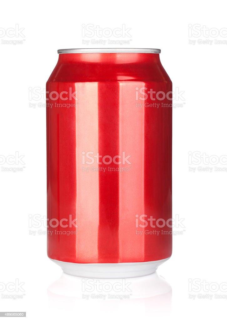 Aluminum soda can stock photo