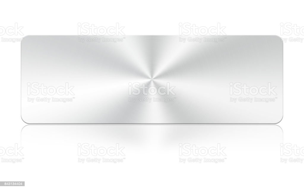 Aluminum square icon on white background,Clipping Path. stock photo