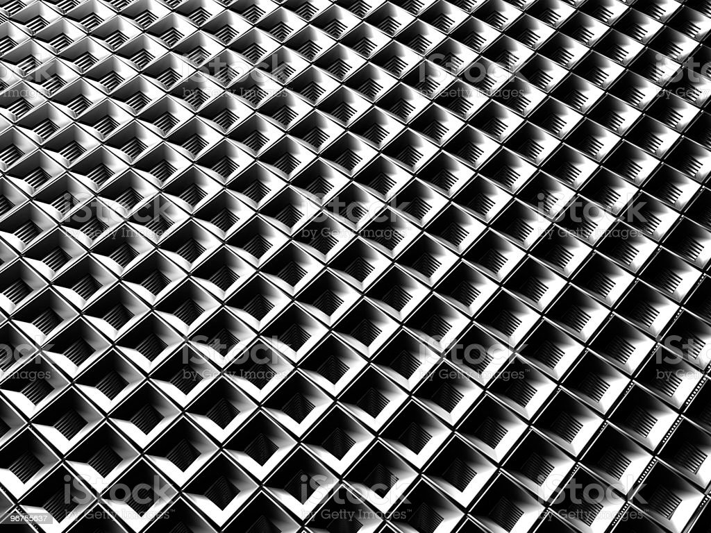 Aluminum square pattern royalty-free stock photo