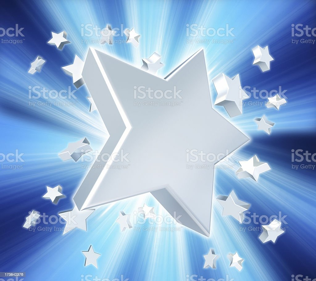 Aluminium stars explosion royalty-free stock photo