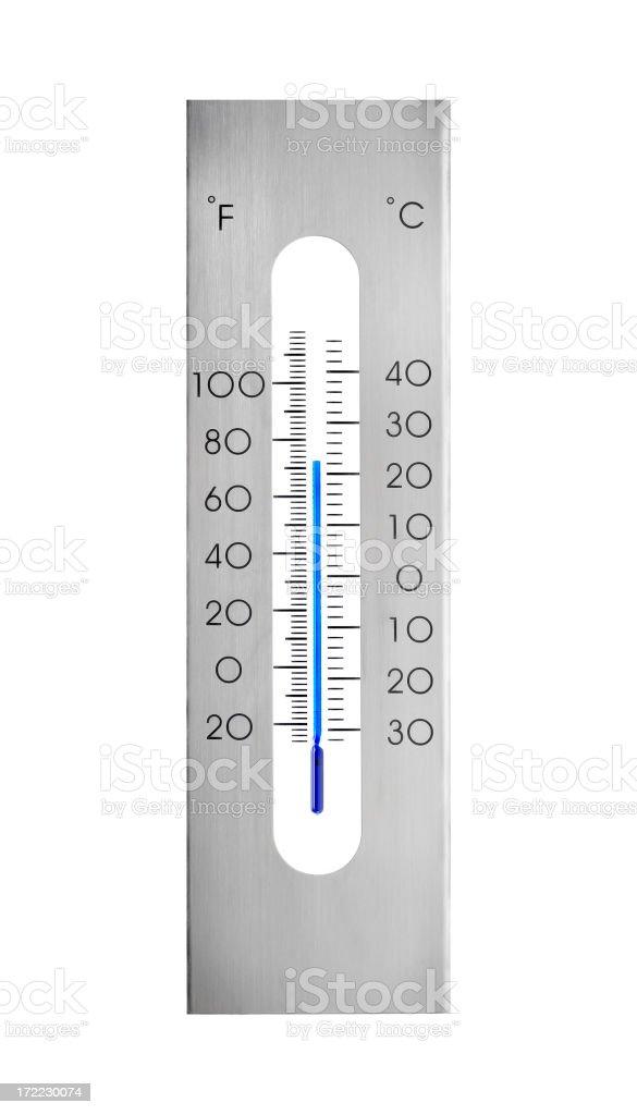 Aluminum thermometer stock photo