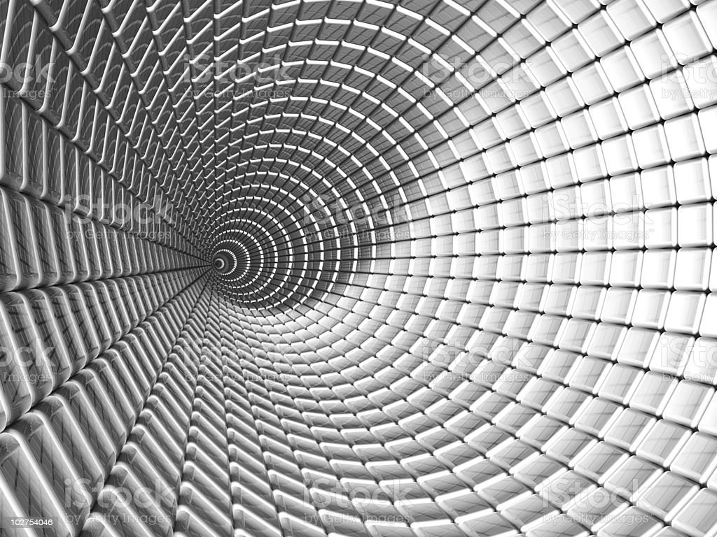 Aluminum tunnel abstract background royalty-free stock photo