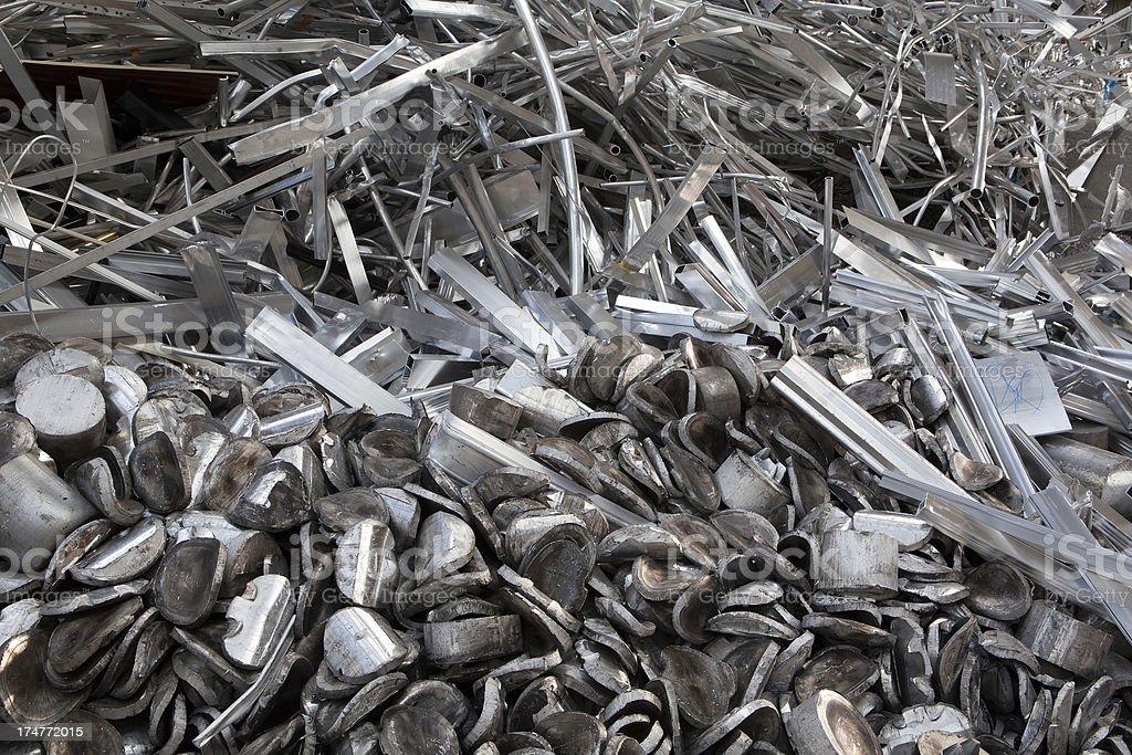 Aluminum waste stock photo