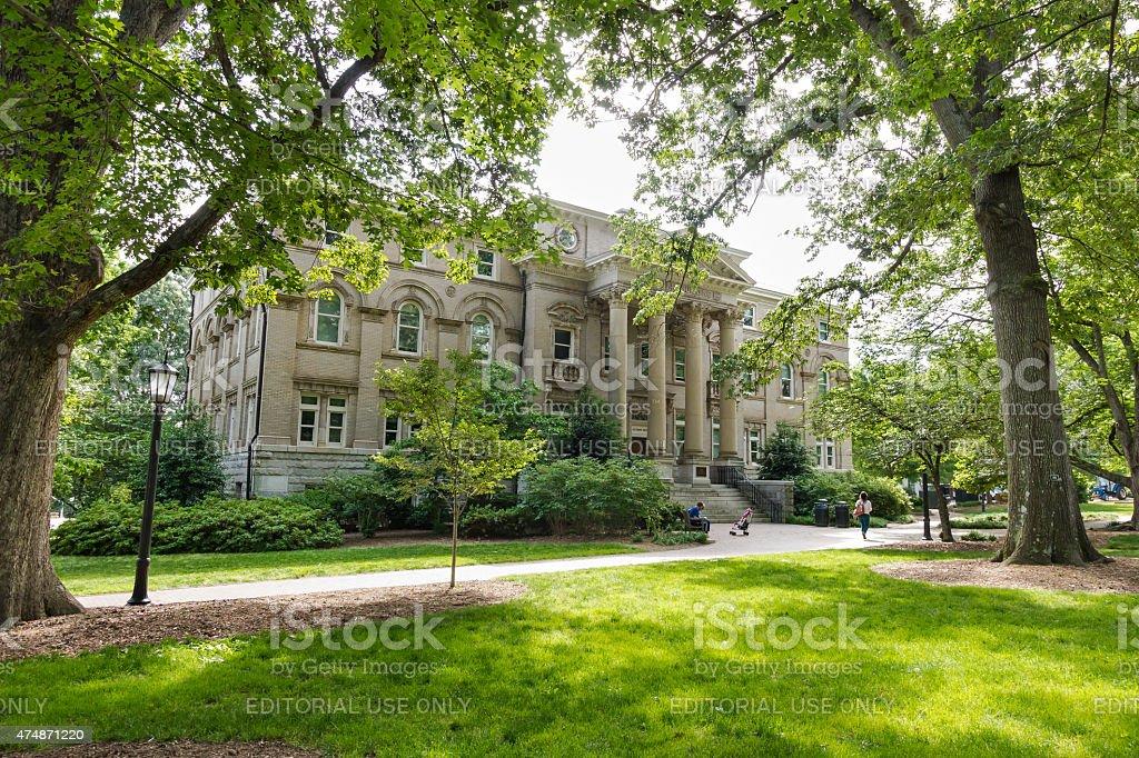 Alumni Building at UNC-Chapel Hill stock photo