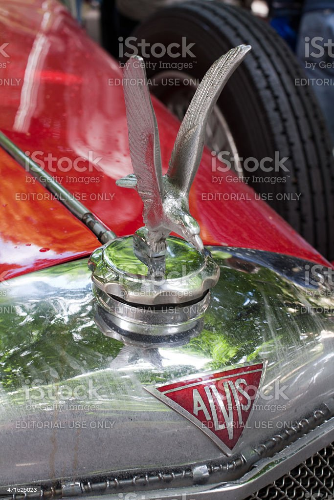 Alvis old car logo stock photo