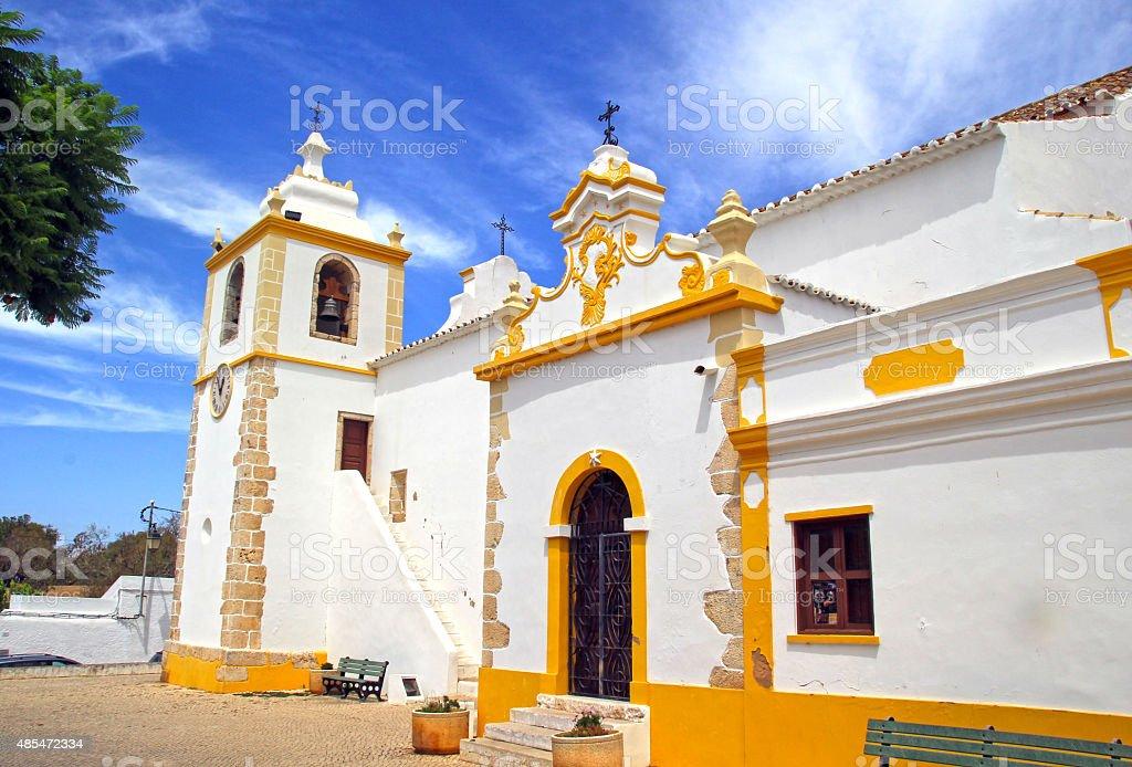 Alvor church, Portugal. stock photo