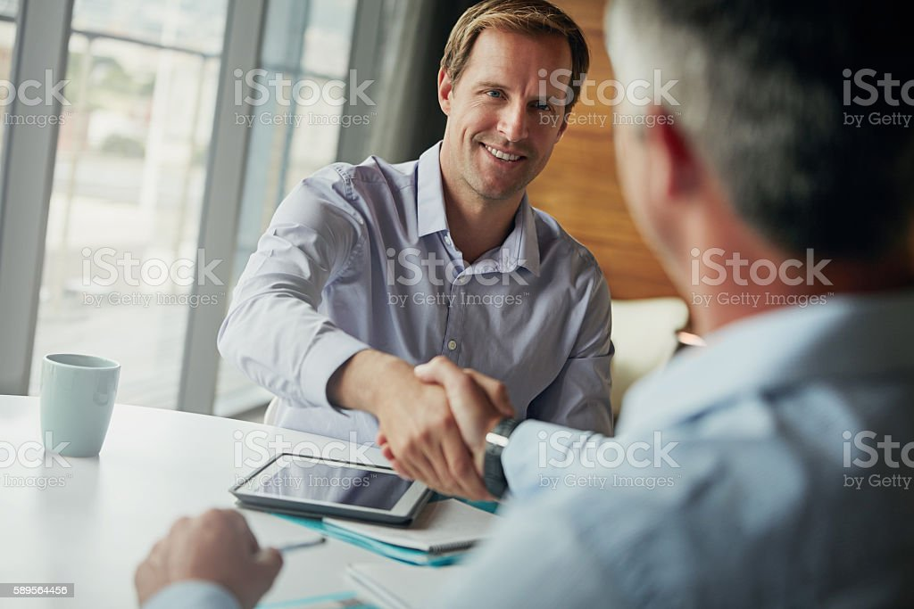 Always a pleasure doing business! stock photo