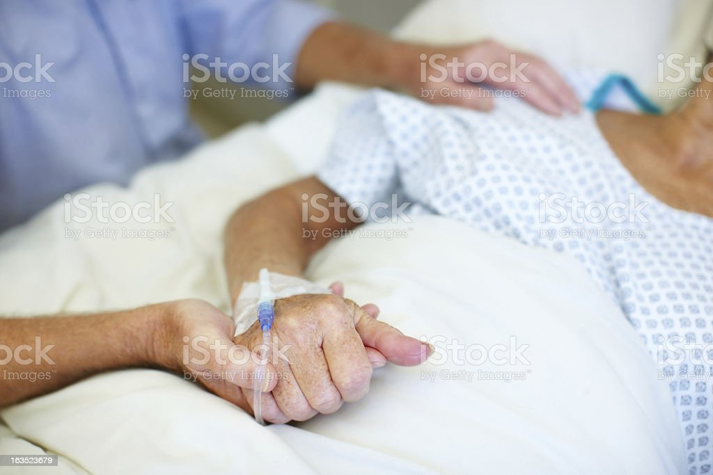Always at her bedside stock photo