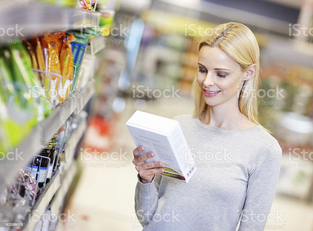 I always check the ingredients royalty-free stock photo