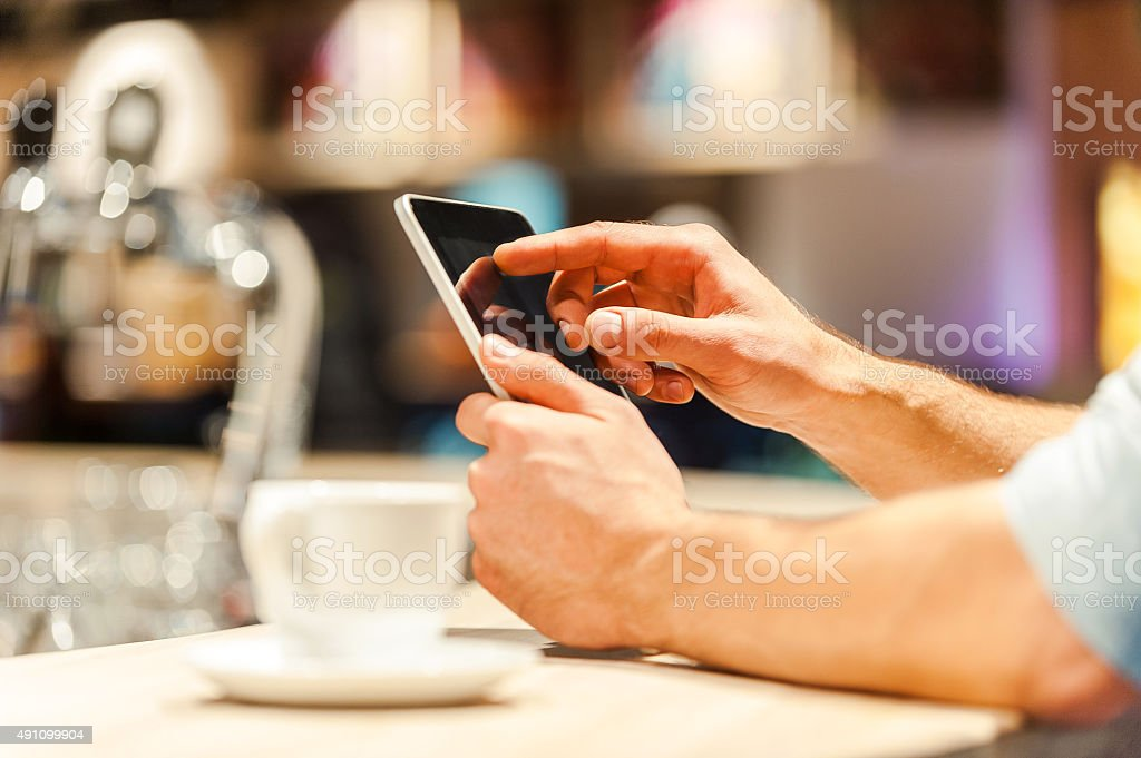Always connected. stock photo