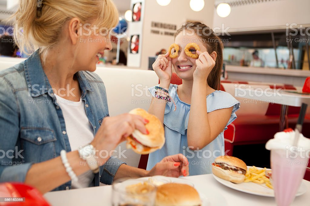 Always having fun with my mum stock photo