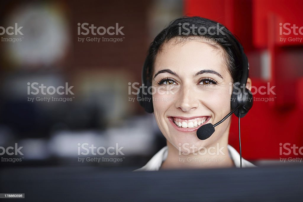 Always here to help! royalty-free stock photo