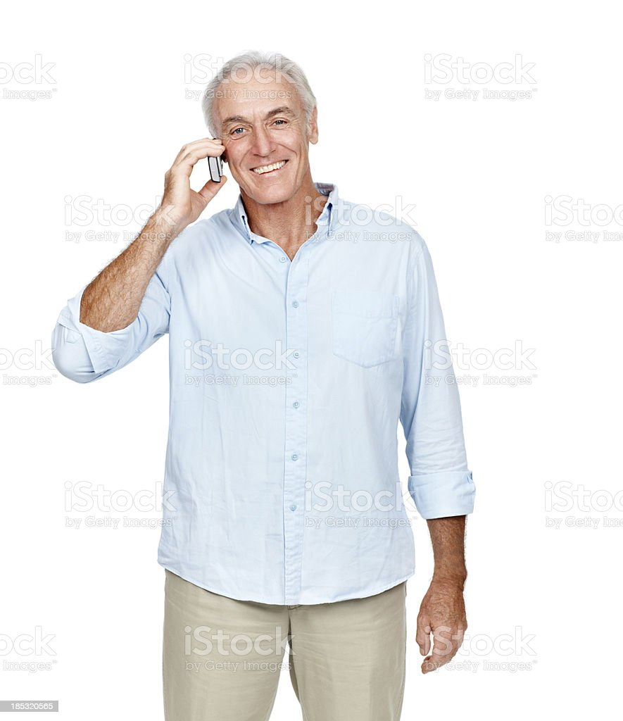 Always keeping in touch royalty-free stock photo
