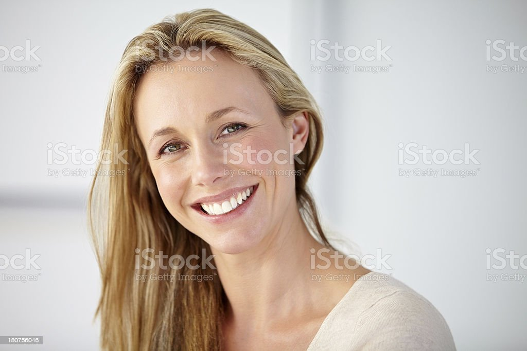 Always looking on the bright side stock photo