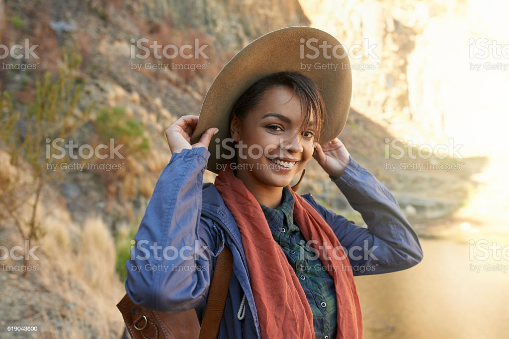 I always loved spending time outdoors stock photo
