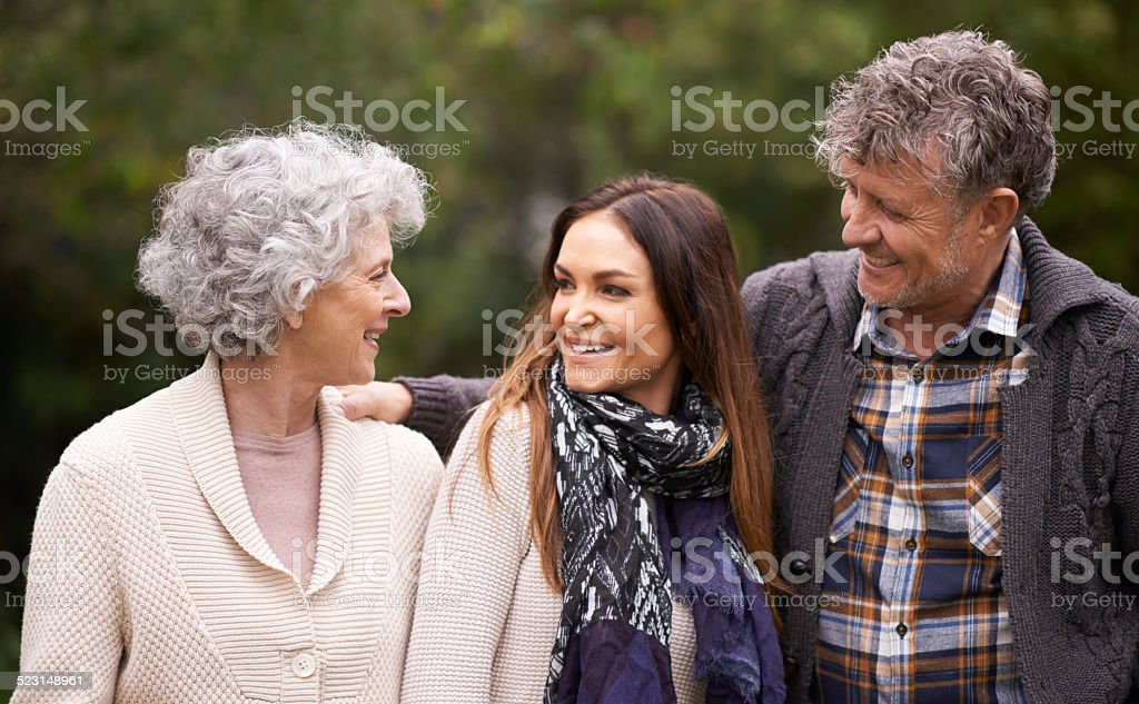 I always make time for my parents stock photo