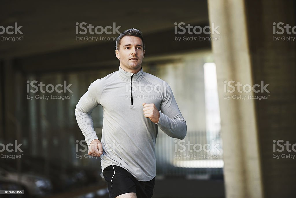 Always making time for a run royalty-free stock photo