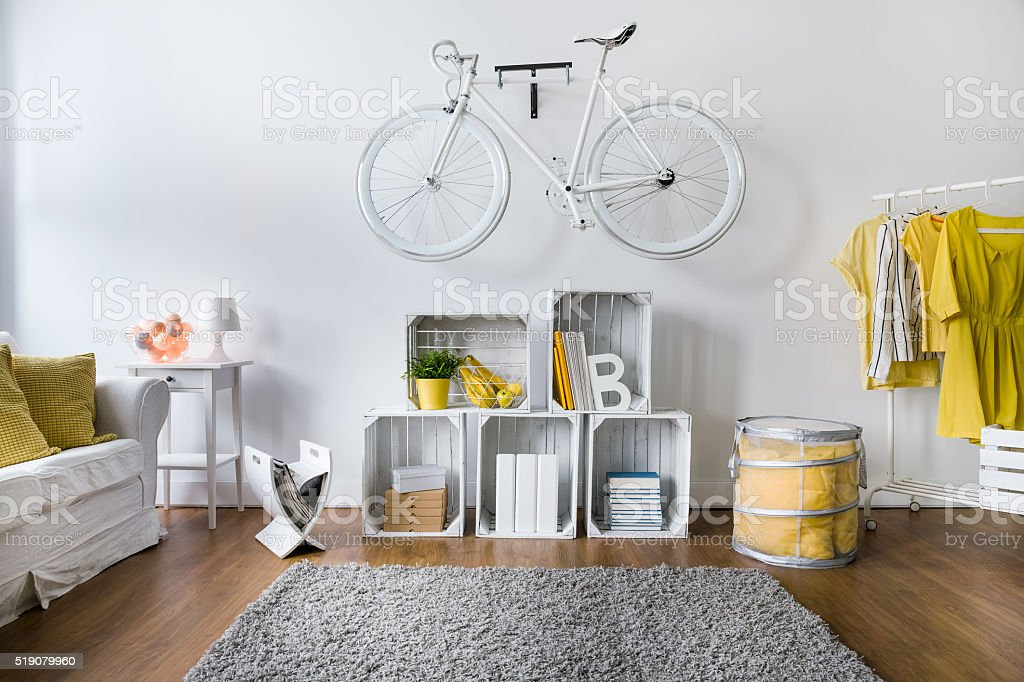 Always prepared for bicycle riding stock photo