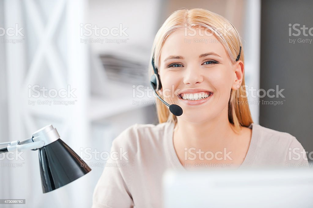 Always ready to help you. stock photo
