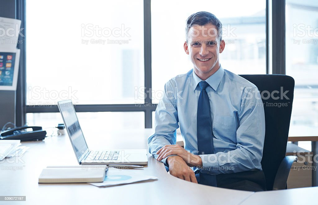 Always ready to offer advice stock photo