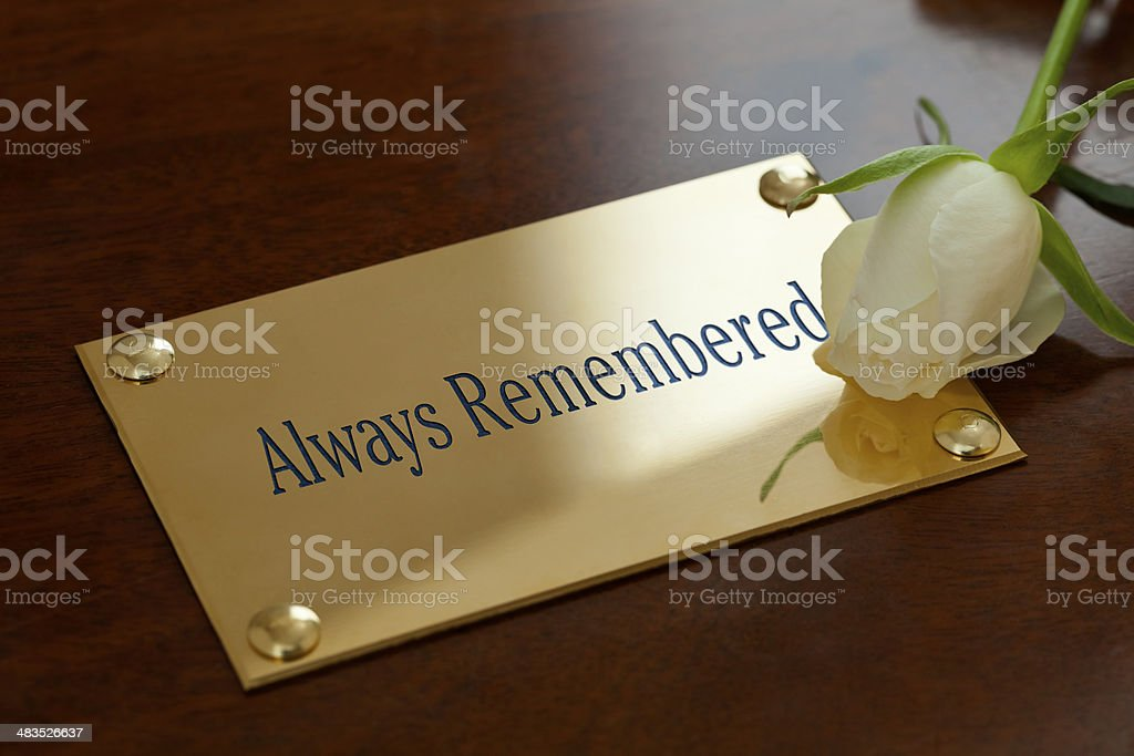 Always Remembered stock photo