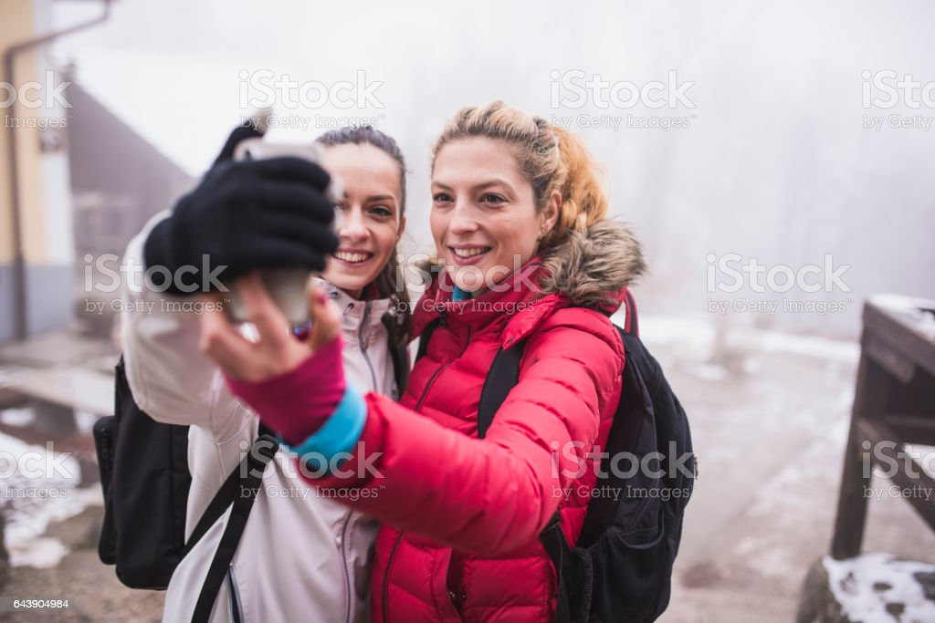 Always time for a selfie stock photo