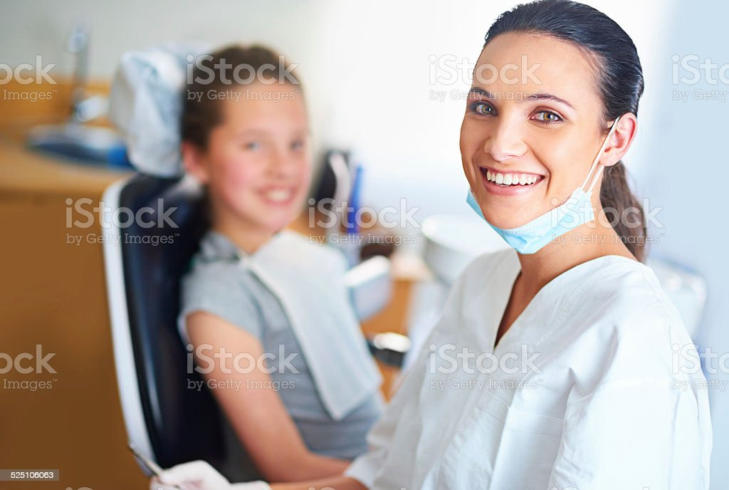 I always try to put my patients at ease stock photo