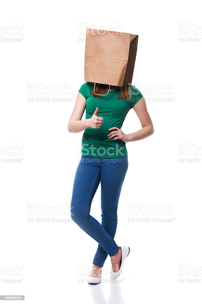 I always use paper bag for shopping stock photo