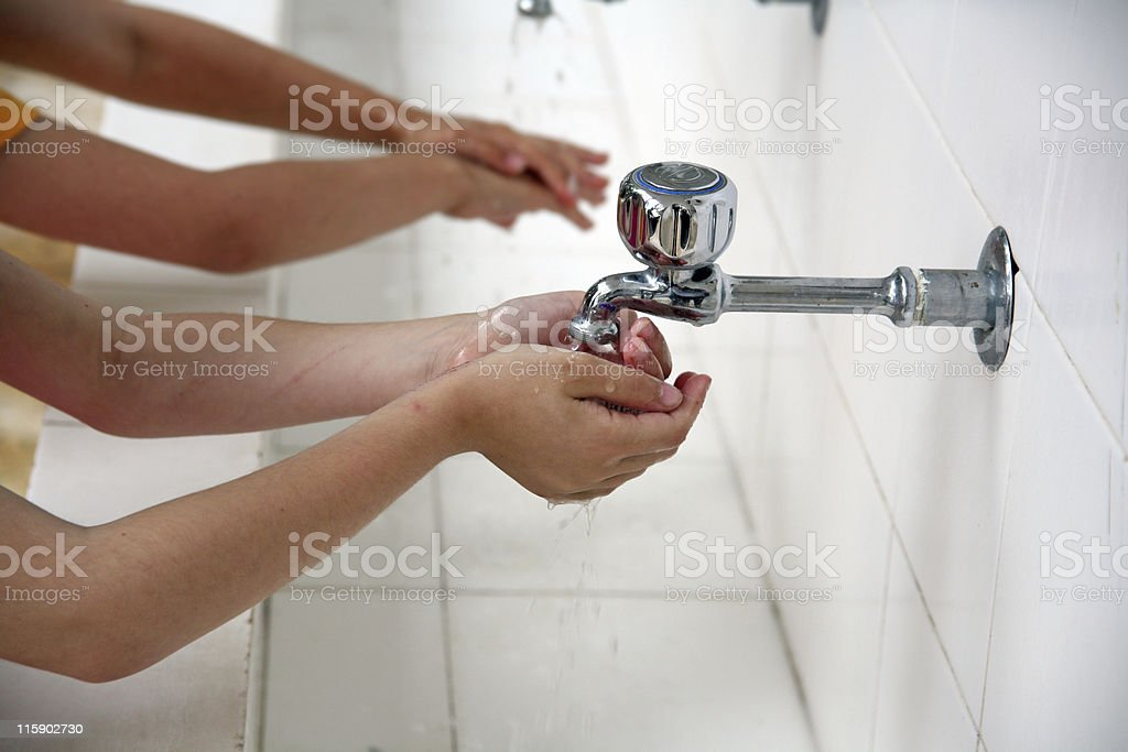 Always wash your hands royalty-free stock photo